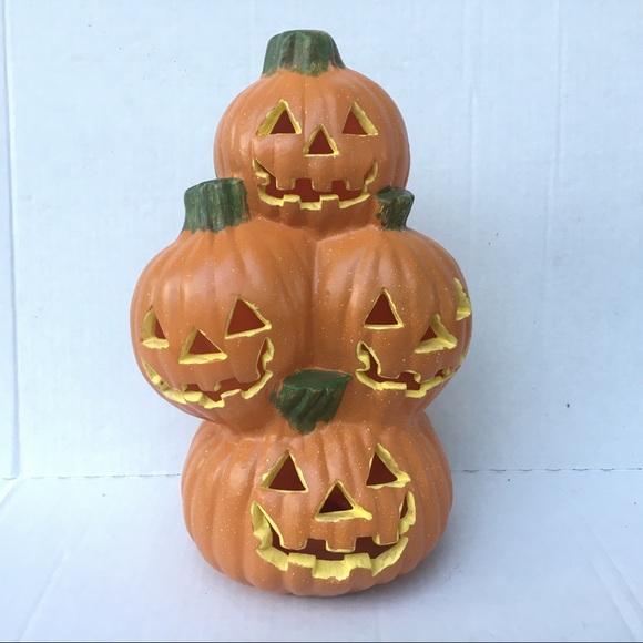 Foam Blowmold pumpkin stack Halloween decor
